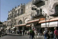 Jerusalem Street scene New City  with people Stock Footage