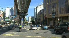 Kuala Lumpur street and elevated rail Stock Footage