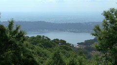 Lake Albano in the Alban Hills of italy Stock Footage