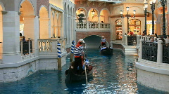 Gondola passing Las Vegas P HD 6911 Stock Footage
