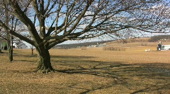Lancaster County PA in late winter  Stock Footage