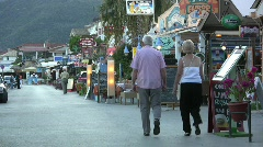 Lefkada Nidri evening Stock Footage