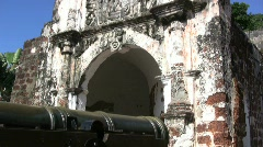 Malacca Portuguese fort Stock Footage