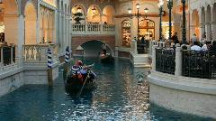 Gondola two in Las Vegas tourist P HD 6913 Stock Footage