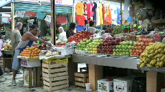 Mexico Mazatlan selling fruit - stock footage