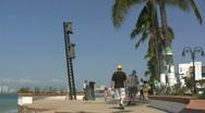 Mexico Puerto Vallarta sculptures Stock Footage