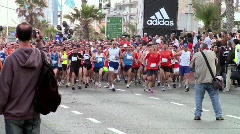 Running marathon 13 Stock Footage