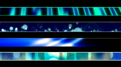 Abstract Blue Green Lower Third Loop 4.92 - stock footage