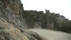 Mycenae Lion Gate Stock Footage