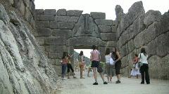 Mycenae Lion Gate - stock footage