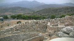 Mycenae ruins in Greece Stock Footage