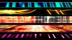 Abstract High Tech Looping Lower Thirds Stock Footage