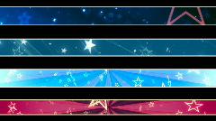 Stars Retro Looping Lower Thirds  Stock Footage