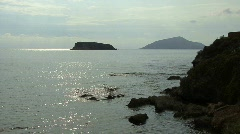 View of the Aegean Sea from Cape Sounion Stock Footage