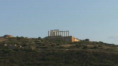 Poseidon's Temple in afternoon ligth Stock Footage