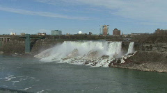 Niagara Falls at American Falls Stock Footage