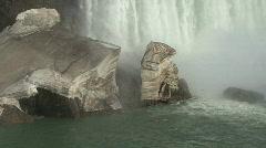 Niagara Falls blocks of ice  Stock Footage