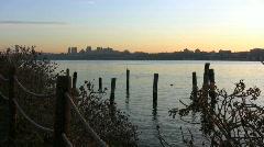 Hudson River at dawn Stock Footage