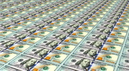 Stock Video Footage of Printing New Money, Hundred dollar bills, sheets angle