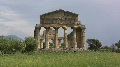 Stock Video Footage of Paestrum Temple of Athena