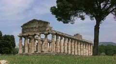 Paestrum Temple of Athena - stock footage