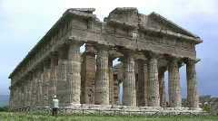 Paestrum Temple of Neptune Stock Footage