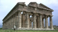 Stock Video Footage of Paestrum Temple of Neptune