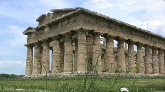 Stock Video Footage of Italy Paestrum Temple of Neptune