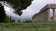 Stock Video Footage of Paestrum Temple of Hera