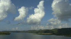Panama Canal Clouds & Lake Gatun Stock Footage
