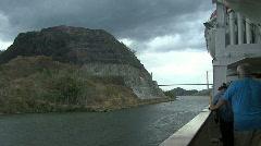 Panama Canal Gaillard Cut - stock footage