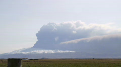 Stock Video Footage of Eyjafjallajokull Volcano