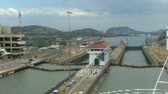 Panama Canal at Miraflores Locks Stock Footage