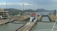 Panama Canal at Miraflores Locks Stock Footage