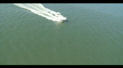 Sport Fish Boat Underway Stock Footage