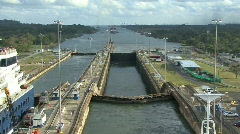 Panama Canal Gatun Locks Stock Footage