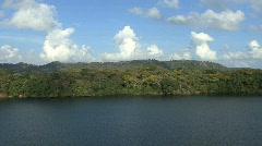 Panama Canal Rainforest along Lake Gatun Stock Footage