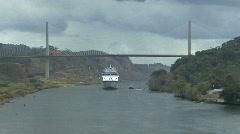 Panama Canal Centennial Bridge  Stock Footage