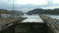 Panama Canal Pedro Miguel Locks Stock Footage