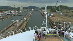 Panama Canal Ship in the Miraflores Locks Stock Footage