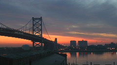 Philadelphia bridge Stock Footage