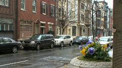 Philadelphia street scene - stock footage