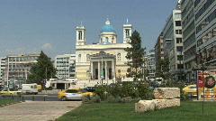 Piraeus Greek Orthedox church Stock Footage