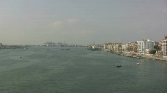 Suez Canal and Port Said Stock Footage