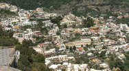 Positano pans a view Stock Footage