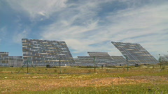 Solar panels green energy time lapse Stock Footage