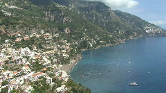 Positano italy zooms Stock Footage