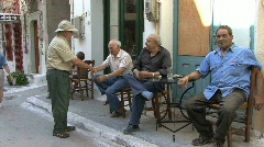 Men on the Greek Island of Chios Stock Footage