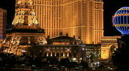 Las Vegas strip and hotels night P HD 6846 Stock Footage