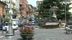 Plaza in Rocca di Papa Stock Footage